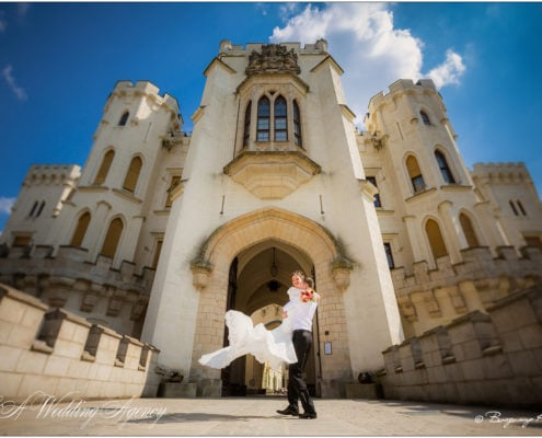 Wedding in the Hluboka Castle