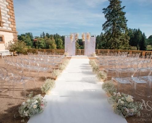 Эксклюзивная свадьба в замке Пругонице